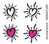 abstract heart bursts   Shutterstock .eps vector #468461180