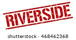 riverside stamp. red square... | Shutterstock .eps vector #468462368