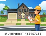 a vector illustration of home... | Shutterstock .eps vector #468467156