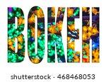 led decoration festival....   Shutterstock . vector #468468053