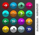 arrow buttons set. vector... | Shutterstock .eps vector #468469439