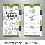 vintage vegetarian food menu... | Shutterstock .eps vector #468472610