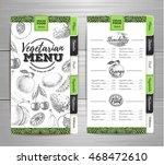 vintage vegetarian food menu... | Shutterstock .eps vector #468472610