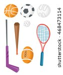 variety of sports equipment for ... | Shutterstock .eps vector #468473114
