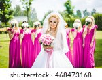 bride with bridesmaids in a... | Shutterstock . vector #468473168