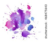 expressive abstract watercolor... | Shutterstock .eps vector #468475643