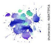 expressive abstract watercolor... | Shutterstock .eps vector #468475916