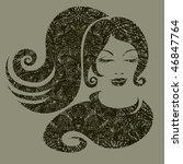 raster grunge illustration of a ...   Shutterstock . vector #46847764
