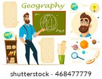 geography teacher. infographic. ... | Shutterstock .eps vector #468477779