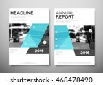 annual report brochure for... | Shutterstock .eps vector #468478490