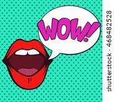 vintage pop art illustration of ... | Shutterstock .eps vector #468482528