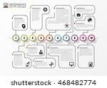 timeline infographics. modern... | Shutterstock .eps vector #468482774
