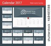 wall monthly calendar for 2017... | Shutterstock .eps vector #468485588