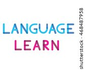 """poster with phrase """"language... 
