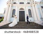 wedding. wedding day. beautiful ... | Shutterstock . vector #468488528