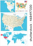 usa maps collection large...   Shutterstock .eps vector #468497330
