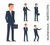 set of businessman character in ... | Shutterstock .eps vector #468501596