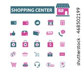 shopping center icons | Shutterstock .eps vector #468502199