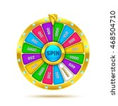 colorful fortune wheel design.... | Shutterstock .eps vector #468504710