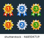 win medals set. colorful 3d...