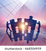 solution. concept business... | Shutterstock . vector #468504959