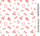fast food pattern. wrapping... | Shutterstock .eps vector #468506054