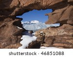 red sandstone rock formation... | Shutterstock . vector #46851088