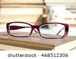 book and glasses  cup of coffee ... | Shutterstock . vector #468512306