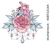 floral magic composition in... | Shutterstock .eps vector #468516164