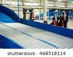 sorting line with roller... | Shutterstock . vector #468518114