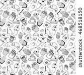 desserts seamless pattern | Shutterstock .eps vector #468518150