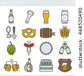 beer color icons set. bar and... | Shutterstock .eps vector #468520490