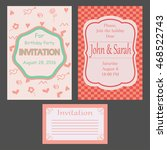set of invitations. vector... | Shutterstock .eps vector #468522743