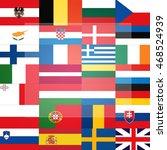 all flags  eu member states ...   Shutterstock . vector #468524939