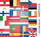 all flags  eu member states ...   Shutterstock . vector #468525416