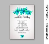 wedding invitation or card with ... | Shutterstock .eps vector #468525653