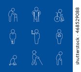 disability thin line icons.... | Shutterstock .eps vector #468529088