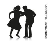 silhouette of couple dancing...   Shutterstock .eps vector #468530354