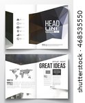set of business templates for... | Shutterstock .eps vector #468535550