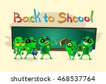 green robot group over class... | Shutterstock .eps vector #468537764