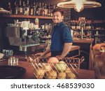barman having fun at bar... | Shutterstock . vector #468539030