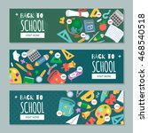 back to school. set with... | Shutterstock .eps vector #468540518