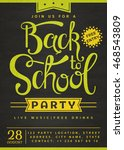 back to school party invitation.... | Shutterstock .eps vector #468543809