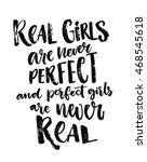 real girls are never perfect ... | Shutterstock .eps vector #468545618