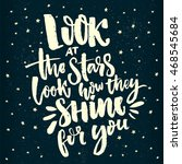 look at the stars  look how... | Shutterstock .eps vector #468545684