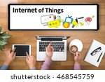 internet of things two... | Shutterstock . vector #468545759