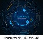 sci fi futuristic user... | Shutterstock .eps vector #468546230