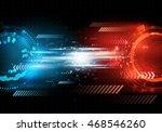 vector futuristic background ... | Shutterstock .eps vector #468546260