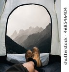 tent lookout on a camp in the...   Shutterstock . vector #468546404
