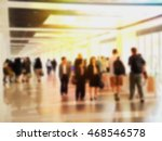 Blurred Business People On...